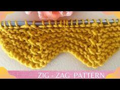 Ζιγκ - ζαγκ σχεδιο μπορντουρα μοναχα με μια σειρα! Zig zag pattern. - YouTube Zig Zag Pattern, Knitting, Crochet, Youtube, Weaving Kids, Crochet Dress Girl, Girls Dresses, Tejidos, Tricot