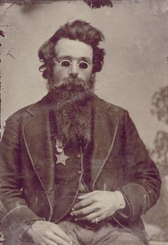 ca. 1870, [Tintype portrait of (Francis) Jefferson Coates, who lost both eyes at Gettysburg and was subsequently awarded the Medal of Honor and the rank of Brevet Captain]