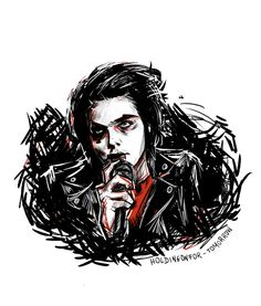 This is an Amazing drawin of Gerard Way