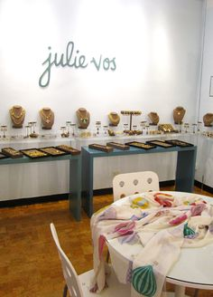 Julie Vos showroom (like the signage on wall)