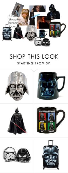 """""""Star Wars Dark Side"""" by jovana2407 ❤ liked on Polyvore featuring Han Cholo, ThinkGeek and American Tourister"""