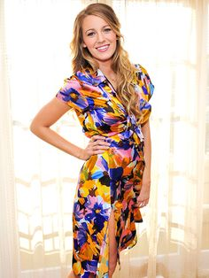 Star Tracks: Wednesday, April 15, 2015 | AGELESS BEAUTY | Blake Lively shows off her amazing post-baby figure in a colorful silk dress while doing press for her new movie, The Age of Adaline, in L.A. on Tuesday.
