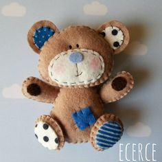 #bearlove❤ #keçe #felt #fieltro #feltro #craft #feltcraft #baby #hediye…