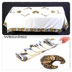 Nappes de table avec du Wax / WaxinDeco / ankara napkin / napkin with Wax / homedeco