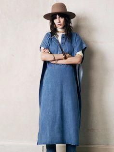 Via Paris Vogue. Joseph denim Poncho.