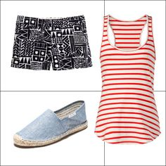 4th of July Clothes and Accessories - shorts - J Crew  red and white tank - StyleMint  espadrilles - Soludos