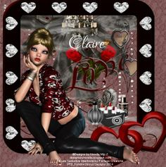 """**Tag show off** WOW! A beautiful tag made by Dizzyz Creations using my NEW PTU scrap kit """"Seductive Intentions"""""""
