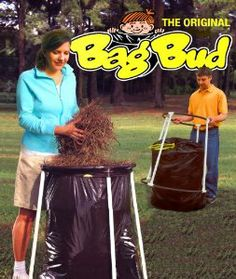 The Bag Bud by Stedman Products. $29.99. Perfect for on-the-go trash storage (picnics, camping, parties).. No tool assembly...only 6 pieces (easily disassembled for storage).. Saves your back...Never lift another heavy bag again.. Uses a standard, 39 gal trash bag.. MADE IN THE USA!!!. The Bag Bud is a lawn and leaf bag holder that assembles quickly, stores compactly, and makes the chore of bagging leaves faster and easier. This simple product consists of just 6 p...