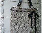 Super cute!!  Yummy textured hand knit bag