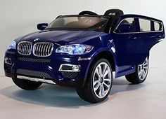 New 2015 Licensed BMW X6 12V Kids Boy Girl Ride on Power Wheels Battery Toy Car,Remote control,Lights,Music-Blue–Limited Time Bonus Leather Seat