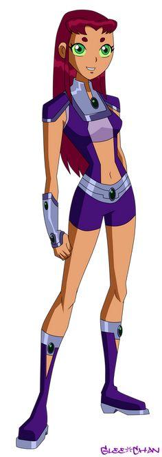 Robin Starfire, Teen Titans Starfire, Nightwing And Starfire, Teen Titans Fanart, Dc Comics Girls, Dc Comics Art, Marvel Dc Comics, The New Teen Titans, Teen Titans Go