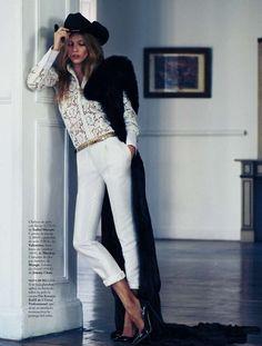Elle Spain January 2013  Ph:Xavi Gordo,stylist: Imaculada Jimenez,hair and make-up:Vicky Marcos,model: Masha Novoselova