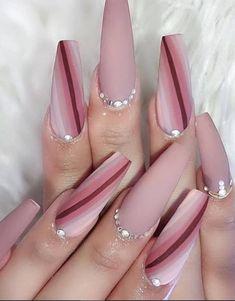 Long Nail Designs, Beautiful Nail Designs, Nail Art Designs, Nails Design, Coffin Nails Matte, Best Acrylic Nails, Nail Swag, Gorgeous Nails, Pretty Nails