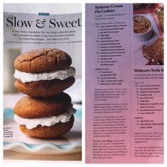 Molasses cream pie cookies