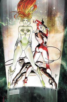 Catwoman, Harley Quinn, and Poison Ivy