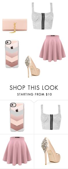 """""""Untitled #1558"""" by aditi-sangwan ❤ liked on Polyvore featuring Casetify, Badgley Mischka and Yves Saint Laurent"""