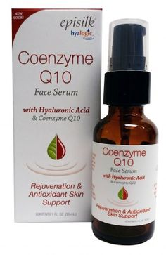 Episilk Coenzyme Q10 Face Serum - Our extreme hydrating Hyaluronic Acid teamed up with the powerful antioxidant Coenzyme Q10. We call it Q10 Age Defense Serum. Refresh, revive and renew as you restore the body's CoQ10 and HA. Nourishes and protects skin. #antioxidant #skincare #naturalproducts #beauty #hyaluronicacid #hyalogic