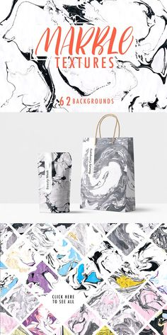 Marble texture collection. by Asya Mix on @creativemarket