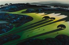 Silent Meadow and Ancient Tree by Eyvind Earle