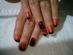 Ombre Feather Accent Nail