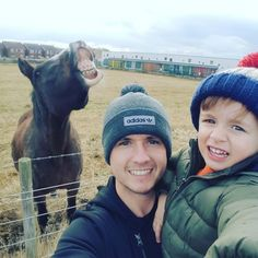 As originally reported February 1st, a father and son walking along a sidewalk took a selfie with a horse photobombing them.  They entered the photo into a local contest, Thomson Holiday's 'Made Me…