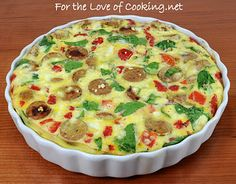 Crestless quiche. Looks really good