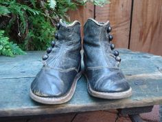 These little antique baby shoes have been very well preserved and are a beautiful heirloom from the past.