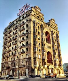 """Like """"a beached wreck of the Titanic"""", the abandoned DIVINE LORRAINE HOTEL is a magnet for urban spelunkers and dare devils. 699 N Broad St, N Philly."""