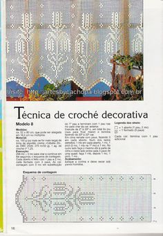 Artes by Cachopa - Croche & Trico: Cortina de croche