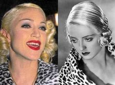 Madonna copies Bette Davis down to the coat.