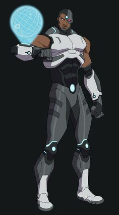 Cyborg Dc Comics, Comic Character, Character Design, Young Justice League, Comic Art, Comic Books, Black Comics, Superhero Villains, Superhero Design