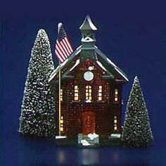 """Department 56: Products - """"New School House"""" - View Lighted Buildings"""
