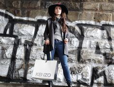 Get this look: http://lb.nu/look/8622767  More looks by Jelena: http://lb.nu/user/5434748-Jelena  Items in this look:  French Connection Uk Wide Brim Hat, Terranova Wool Turtleneck, Zara Gray Coat, Gap Skinny Jeans, Kenzo Large Tote Bag   #casual #chic #street
