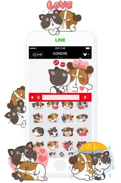 [Gondre&Friends] Jack&Jessi https://store.line.me/stickershop/product/1183262/ko #character #line #sticker #illust #love #gondre