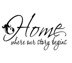 vinyl wall decals home is where our story begins family wall quote lettering decals