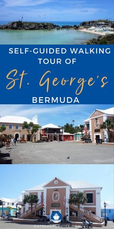 Are you planning a cruise vacation to Bermuda? If so, you'll want to consider touring historic St. George's. Discover all the historic sites during your visit, from churches to the most beautiful beaches in the world, you will see it all in St. George's, Bermuda. There is so much to see like The Bridge House, the Town Hall, and Somer's Wharf just to name a few. Check out our blog post for all the things to see and do in St. Geroge's, Bermuda. Bermuda Vacations, Bermuda Travel, Cruise Vacation, Southern Caribbean, Caribbean Cruise, Royal Caribbean, Most Beautiful Beaches, Beautiful Places, All Inclusive Beach Resorts
