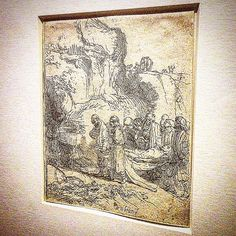 ' Christ Carried to the Tomb ' Rembrandt , 1645 . • Etching with thouches of drypoint . • 'Rembrandt at the Vatican - Images From Heaven and Earth' . From 23 Nov 2016 to 26 Feb 2017 , Vatican Museums , Rome. • • • #Miles7one #Rembrandt #nex7 #VaticanMuseum #dutch #wanderlus7 #bellaroma #roma #rome #iglazio #igersroma #visitroma #loveroma #igerslazio #VisitRome #ar7e #artgallery #art #arte #artist #artoftheday #arts #artwork #artistic #artgallery  #artofvisuals #artists #artlife #artlover…