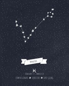 Pisces Constellation - tattoo idea (mini's zodiac)