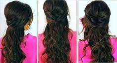 Kim Kardashian Hairstyles, How to No-Heat Curls | Hair Tutorial Video