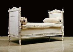 French Antique Directoire Period Painted Daybed, Origin: France, Circa: 1795