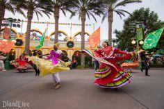 Disney's Viva Navidad - picture of my daughter dancing folklorico in Viva Navidad parade at California Adventure.