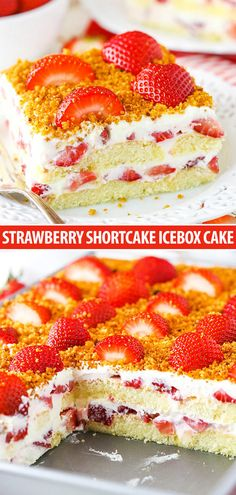 Strawberry Shortcake Icebox Cake – The BEST No Bake Cake! This Strawberry Shortcake Icebox Cake is an easy dessert that's perfect for summer! Made with fresh strawberries, a cream filling and soft ladyfingers, it's light, simple and layered to perfection! Summer Desserts, No Bake Desserts, Easy Desserts, Dessert Recipes, Icebox Cake Recipes, Food Cakes, Cupcake Cakes, Cupcakes, Strawberry Shortcake Dessert
