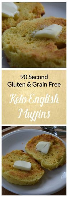 Keto, Grain-Free, Gluten-Free 90 Second English Muffins - Snack Rules These English muffins are super easy to make and taste amazing!