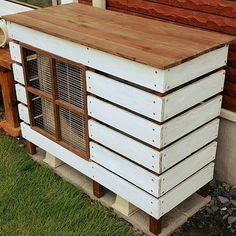 Entrance/ハンドメイド/DIY/カバー/室外機カバー/窓枠風...などのインテリア実例 - 2016-01-28 20:45:09|RoomClip (ルームクリップ)