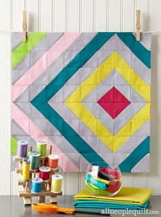 Sew Easy Sampler by @makeitblossom. Fabrics are from the Cotton Couture solids collection from @mmillerfabrics.