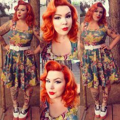 Lauren's hair color is so incredible, it's hard to notice her amazing outfit! ;) Click for details. #stylegallery
