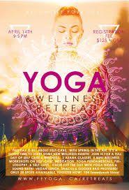 Resultado de imagen para yoga retreat poster