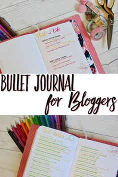 Bullet Journal for Bloggers-- Find out how one bloggers sets up her bujo for bloggers!