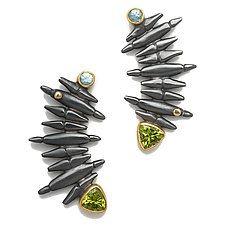 Grand Staircase Earrings by Alison Antelman (Silver & Stone Earrings)