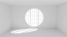 Empty white room with big round window by Sergey Dzyuba - Photo 143176831 - 500px